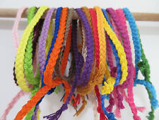 women's men's UNI COLOR braided COTTON bracelet FRIENDSHIP adjustable HANDMADE