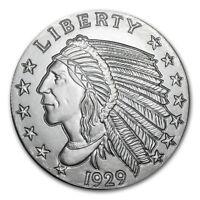 5 oz Silver Round - Incuse Indian - SKU #57094