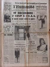 L'Humanité - (15 déc 1961) M Badache - G Péri et L Sampaix - Logements HLM