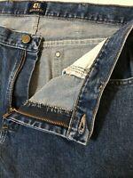 Wrangler 34 x 30 47 Regular Fit 47MWZDS Dark Wash 100% Cotton Denim Jeans