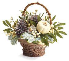Fall Arrangement Basket with Pumpkins