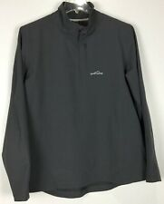 Mens Eddie Bauer Sport 1/4 Zip Pullover Large Long Sleeve Polyester Blend