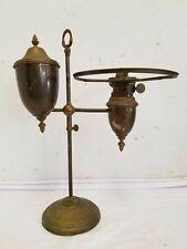 Antique 1880s Manhattan Brass (MB) Original Large Student Desk Oil Lamp, Double