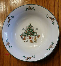 Ming Pao WOODLAND CHRISTMAS Rimmed Cereal Coupel Bowl Replacement Vintage