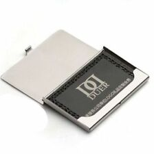 Silver Aluminium Business ID Credit Card Metal Case Box Holder Pocket Office Man