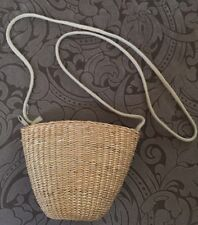 Mini Beach Bag Purse Woven Natural Seagrass Straw Lined Zippered Coin Crafts
