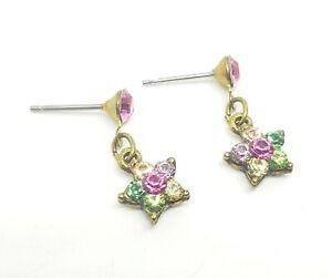 Michal Negrin Romantic EARRINGS Swarovsky Crystals flowers wow 9522