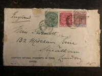 1903 Gibraltar Commercial Cover to London England