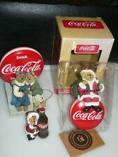 Boyds Bears Coca Cola Joanne & Cheryl Figurine & Christmas Ornaments Lot