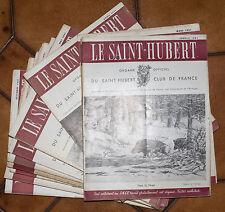 REVUE CHASSE LE SAINT-HUBERT ANNÉE COMPLETE 1951 - 12 numéros