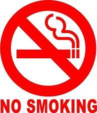 NO SMOKING Circle Sign Vinyl Decal Sticker