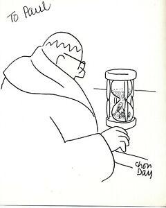 Original Hand Drawn Cartoon of Brother Sebastian Drawn and Signed By Chon Day