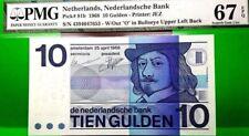 MONEY NETHERLANDS 10 GULDEN ND 1968 NEDERLANDSCHE BANK GEM UNC PICK #91b
