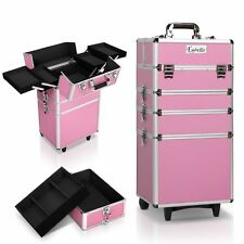 7 in 1 Portable Beauty Make up Cosmetic Trolley Case Pink Fast and