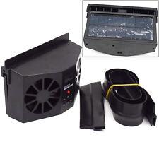 Everlasting Black Solar Dual Fan Car Front/Rear Window Air Vent Cool Cooler Fan