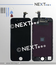 Schermo touch screen vetro retina display frame iphone 6 nero kit riparazione