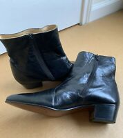 Dino Grecci Leather Ankle Boots Made in Spain Black Mens Size 12 New