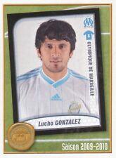 527 LUCHO GONZALEZ ARGENTINA OLYMPIQUE MARSEILLE OM  STICKER FOOT 2011 PANINI