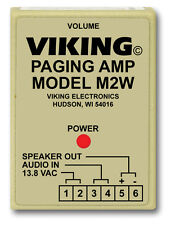 Viking Electronics M2W Paging Power Amp W/25Ae Paging Horn Inc.
