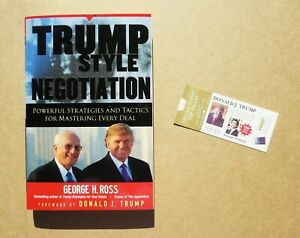 Trump Style Negotiation Powerful Strategies Tactic *** Autographed ***
