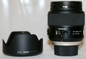 Nikon Tamron SP 35mm f/1.8 DI VC USD Mint Condition + Hood + B+W UV MRC Filter