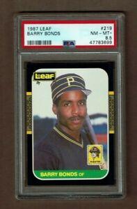 1987 Leaf 219 Barry Bonds Pittsburgh Pirates Rookie Card PSA 8.5 NM-MT+