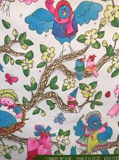 Vintage Gift Wrapping Paper Norcross Baby Birds Tree Lot Of 4 Midcentury