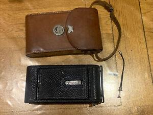 Vintage No 3-A Kodak Folding Camera With Leather Case For Restoration