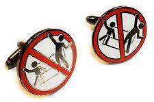 No Standing Disco Dancing Ride Disney Fantasy Suit Wedding Cufflinks Cuff Links