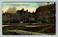 Rochester NY, Tulips, Portsmouth Terrace, Vintage New York c1914 Postcard