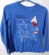 "JUMPING BEANS SIZE 6 BLUE LONG SLEEVE TOP ""SPACE SHUTTLE"" THEME #61C"