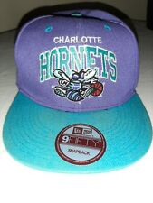 Charlotte Hornets 9fifty Purple and Blue Snap back Hat Pre-owned