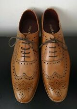Mens Loake Fearnley Brown Leather Brogues Shoes Goodyear Welted - UK 9