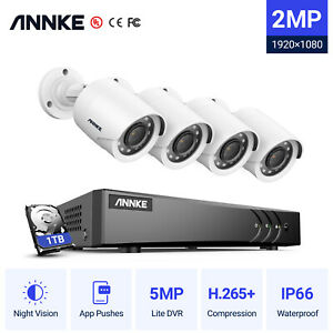 ANNKE 8+2CH 5MP Lite 5IN1 DVR 3000TVL CCTV Camera Home Security System IP66 1TB