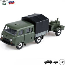 Crewcab Pickup Truck With Army Kitchen Scale 1:43 UAZ 39094 Russian Toy Cars