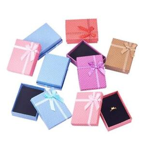 108PCS Gifts Packages Cardboard Jewelry Set Boxes Wave point Mixed Color 90x70mm