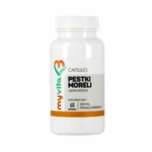 Aprikosenkerne (Amygdalin, Vitamin B17) 300 mg (MyVita) 60 caps. pestki moreli