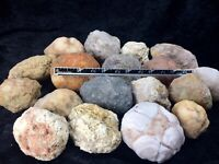 "Unopened GEODES ONE* 2 -3"" Break Your Own Quartz Crystal Agate Natural Uncut Gem"