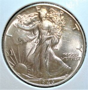 1946 Silver Liberty Walking Half Dollar