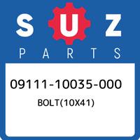 09111-10035-000 Suzuki Bolt(10x41) 0911110035000, New Genuine OEM Part