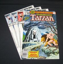 Tarzan Lord of the Jungle 1978-84 bronze/copper age Marvel comics lot of 4