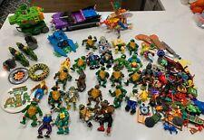 Vintage Teenage Mutant Ninja Turtles Lot Figures Vehicles Accessories Bee TMNT