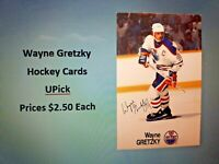 WAYNE GRETZKY Hockey Cards (UPick from the List $2.50 each)