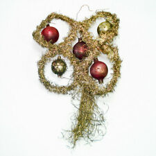 Antique Butterfly Glass And Tinsel Christmas Ornament