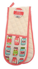 Oven gloves mitts heat resistant padded JAM