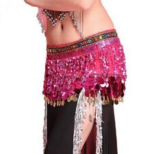 Belly Dance Hip Scarf Skirt Coin Belt Waist Wrap Sequin Tassel Fringe Wrap Skirt