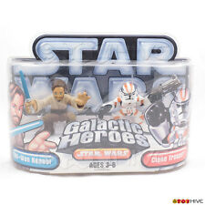 Star Wars Galactic Heroes Obi Wan and orange Clone Trooper by Hasbro