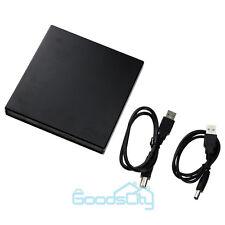 Black External USB 2.0 Region Free DVD Burner Slim CD-RW ROM Combo Player Drive