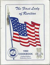 THE FIRST LADY OF RURITAN 1992 VINTAGE COOK BOOK RURAL CLUBS NATION-WIDE MEMBERS