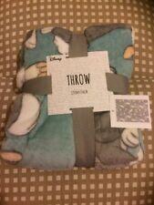 Disney Primark Blue/Green Thumper Fleece Throw Blanket BNWT